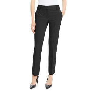THEORY Black Wool Blend Trousers 4